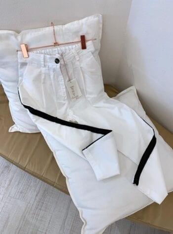 Shop Online Pantalone bimba bianco banda laterale Souvenir Kids