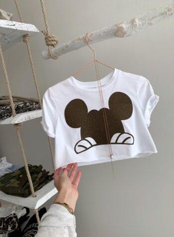Shop Online T-shirt bimba corta topolino glitter Souvenir Kids