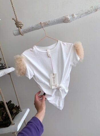 Shop Online T-shirt bimba con rouches tulle Souvenir Kids