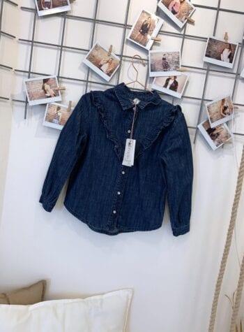 Shop Online Camicia bimba jeans rouches Souvenir kids