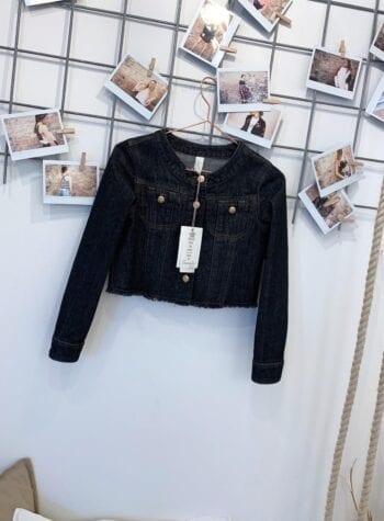 Shop Online Giacchetto bimba in jeans scuro Souvenir Kids
