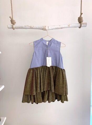 Shop Online Vestito bimba righe e brillantini Souvenir Kids