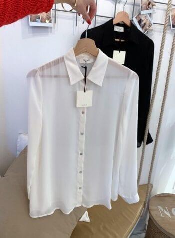 Shop Online Camicia panna basica Vicolo