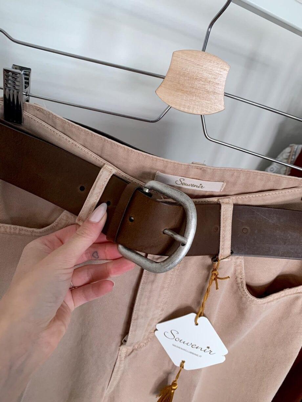 Shop Online Jeans palazzo corto beige Souvenir
