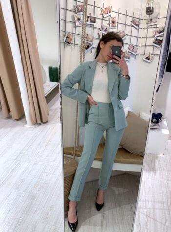 Shop Online Completo giacca e pantalone menta Kontatto