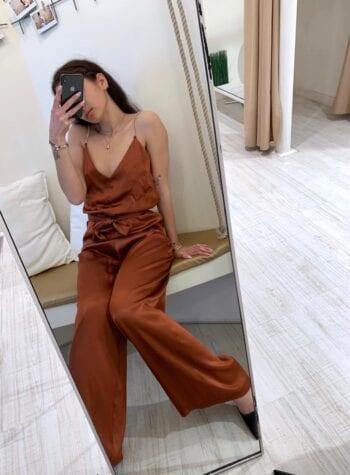 Shop Online Tuta spalline strass cuoio Kontatto