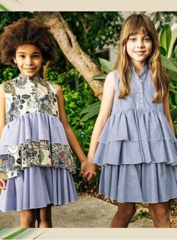 Shop Online Vestito bimba righe gale Souvenir Kids