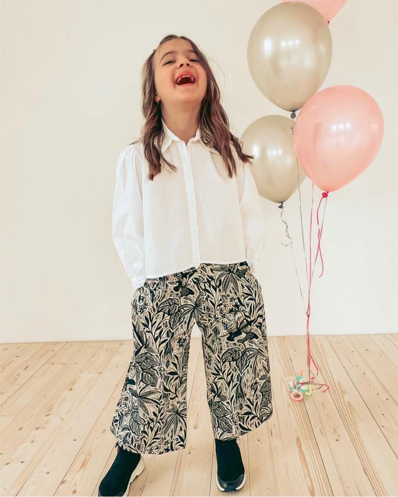 Shop Online Camicia bimba bianca con patch occhio Souvenir Kids