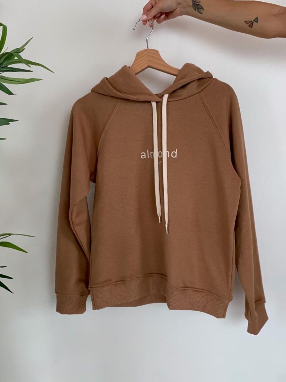 Shop Online Felpa Almond con cappuccio Vicolo