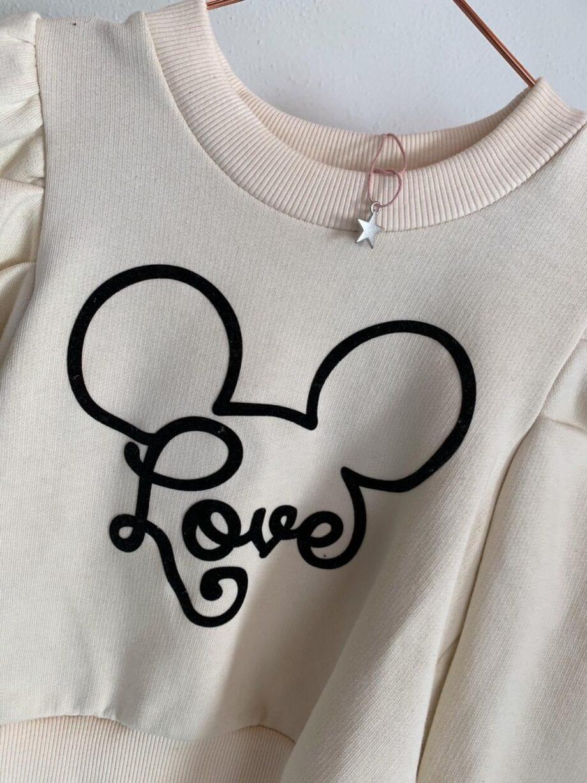 Shop Online Felpa panna topolino spalle arricciate Souvenir Kids