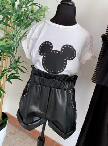 Shop Online T-shirt bianca sagoma topolino Souvenir Kids