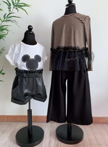 Shop Online Pantalone corto palazzo con cintura Souvenir Kids
