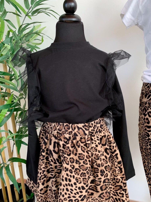 Shop Online Maglietta nera con tulle Souvenir Kids