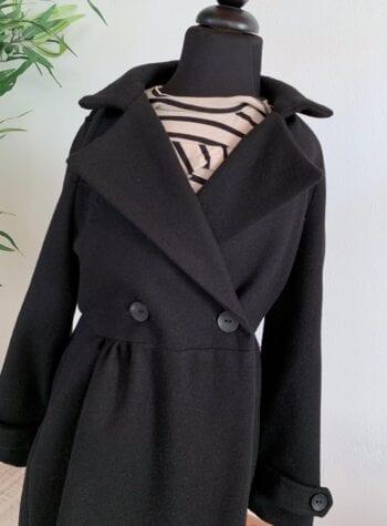 Shop Online Cappotto nero doppio petto Souvenir Kids