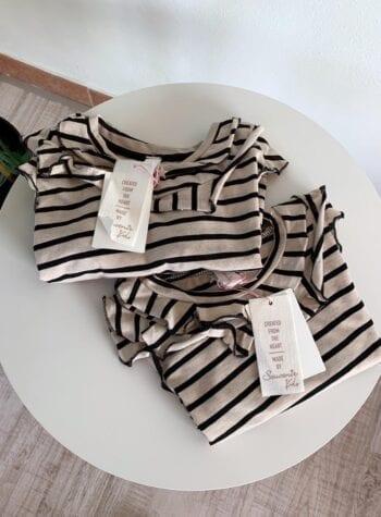 Shop Online Maglietta a righe con rouches Souvenir Kids