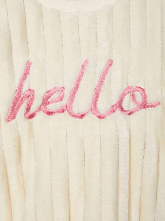 Shop Online Maglioncino hello in cingilia panna name it