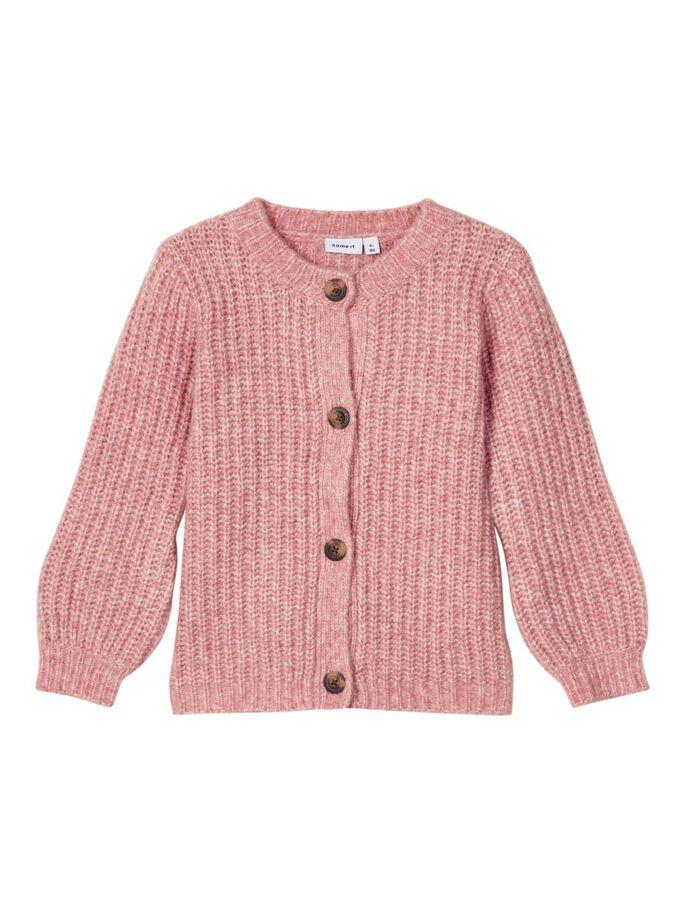 Shop Online Cardigan corto rosa in maglia inglese name it