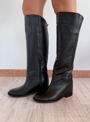 Shop Online Stivali CAROL in vitello nero Gisél Moiré