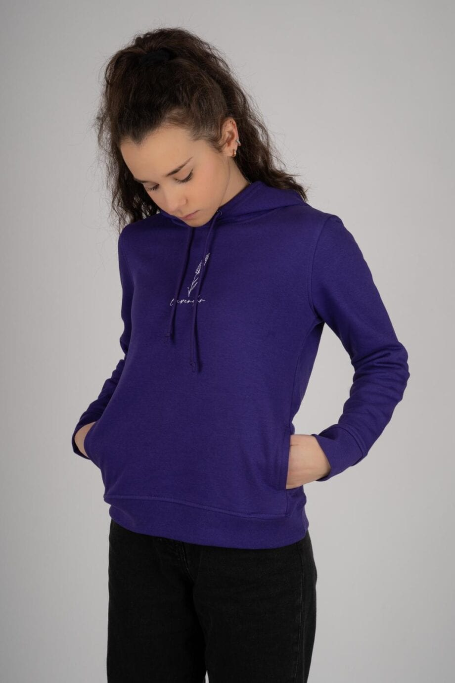 Shop Online Felpa viola lavender I AM ME