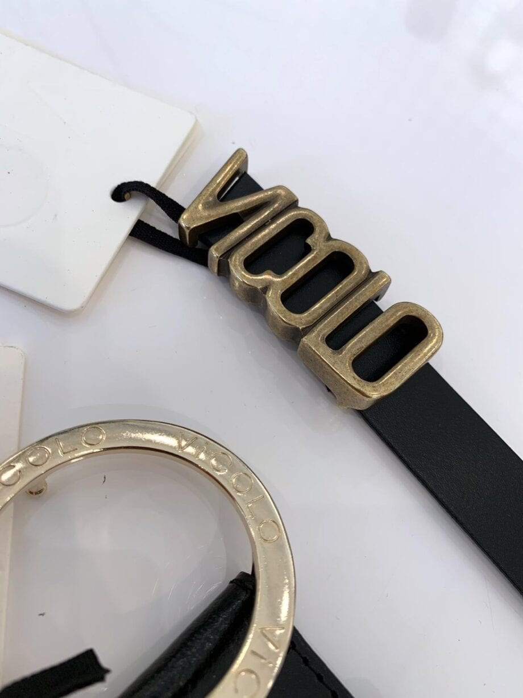 Shop Online Cintura nera vera pelle VCL Vicolo