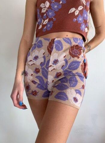 Shop Online Short in maglia floreale Kontatto