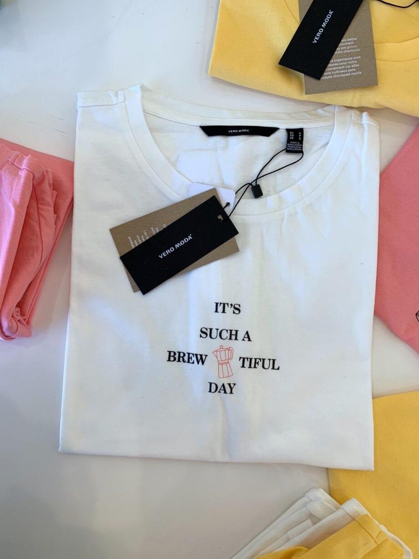 Shop Online T-shirt rosa stampa Vero Moda