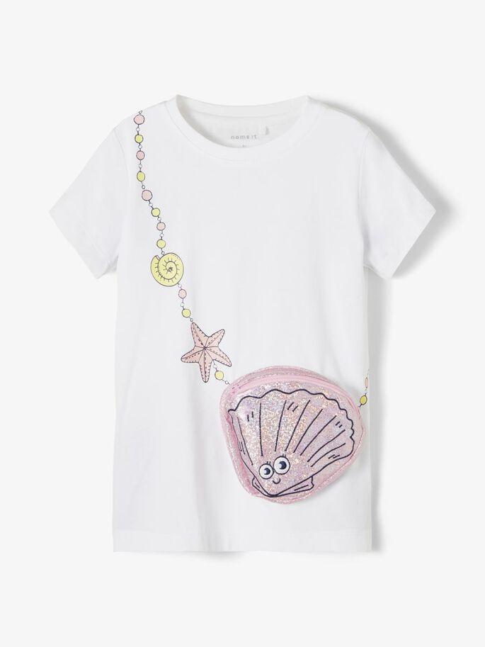 Shop Online T-shirt blu con borsina gelato Name It