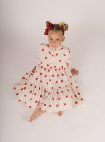 Shop Online Vestito panna con stelle Souvenir Kids