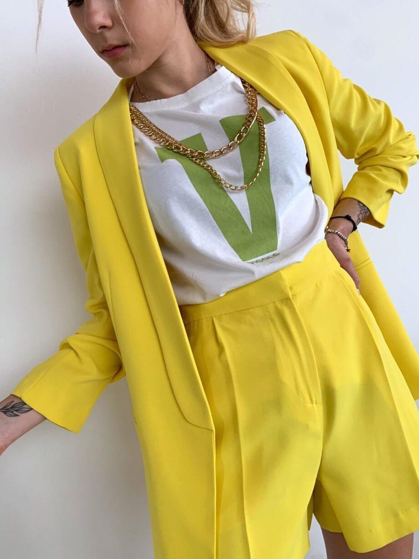 Shop Online Bermuda strutturati gialli Vicolo