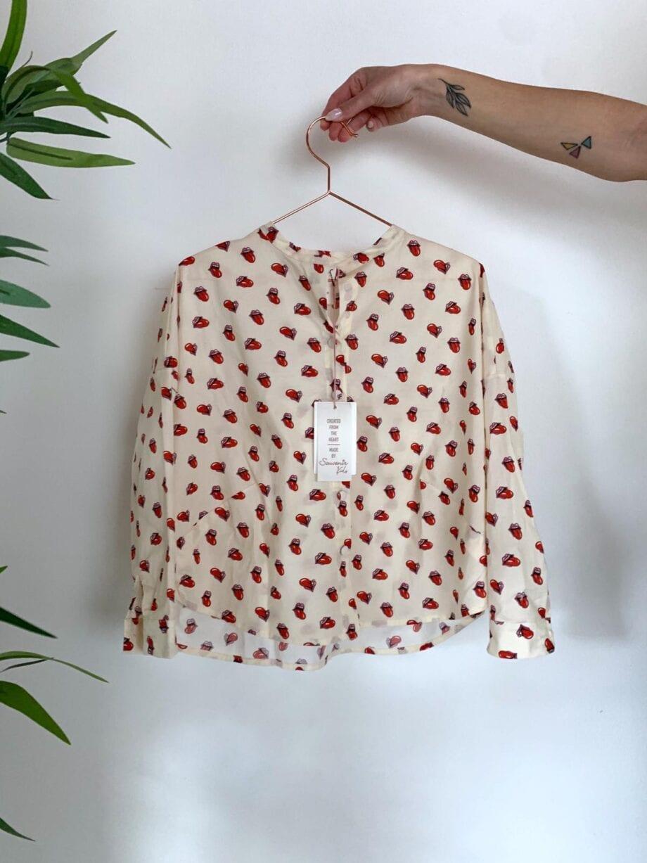 Shop Online Camicia panna logo Rolling Stones Souvenir Kids