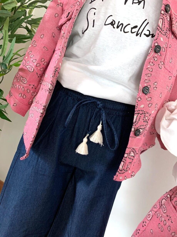 Shop Online Pantalone palazzo jeans morbido Souvenir Kids