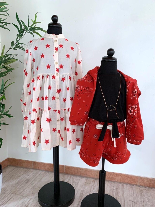Shop Online Short tuta bandana rosso Souvenir Kids