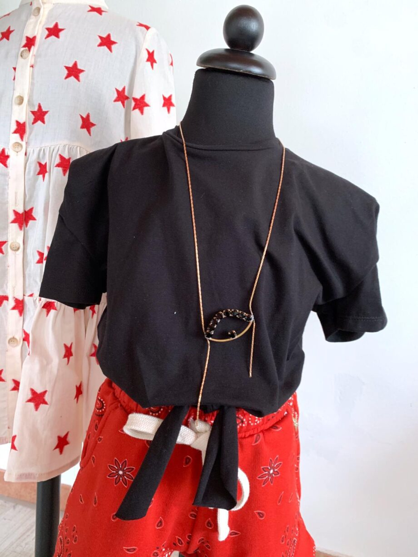 Shop Online T-shirt nera con spalline Souvenir Kids