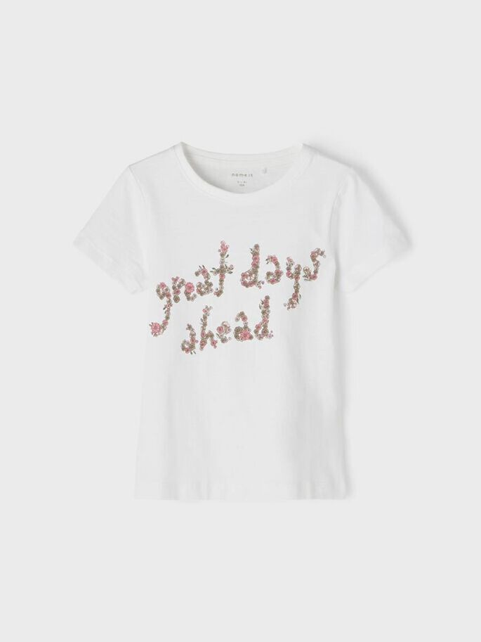 Shop Online T-shirt gialla stampa farfalle Name It
