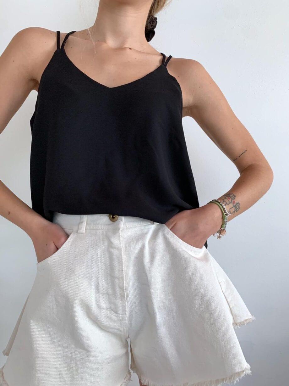 Shop Online Vestito lungo tubino nero Vero Moda