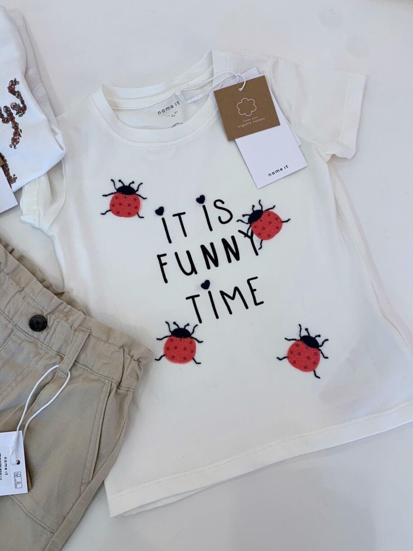 Shop Online Short cotone beige Name it