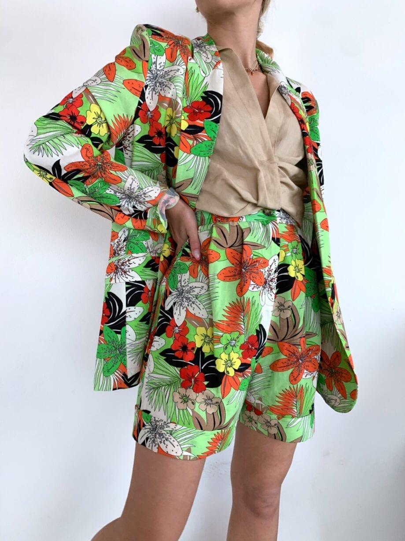 Shop Online Bermuda in lino floreali Vicolo