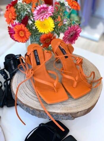 Shop Online Sandalo Puket arancione Gisél Moiré