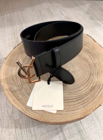 Shop Online Cintura nera modello fibbia YSL Vicolo