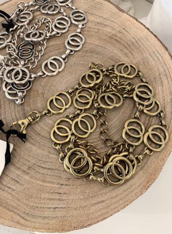 Shop Online Cintura nera fibbia quadrata dorata Vicolo