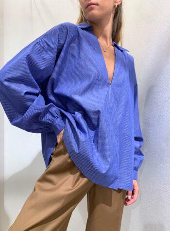 Shop Online Camicia over a righe celeste Souvenir