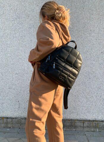 Shop Online Zaino fluffy nero con bocchette Gio Cellini