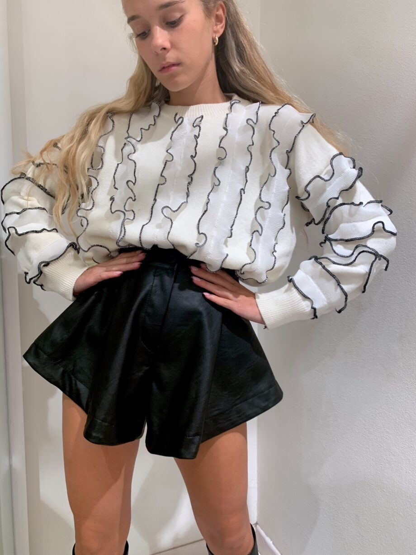 Shop Online Pantaloncino OIHANE in ecopelle nero Odì Odì
