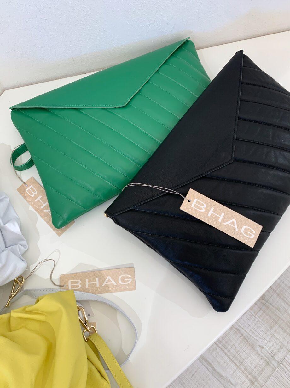 Shop Online Pochette a busta matelassé verde Bhag