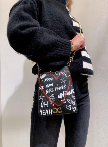 Shop Online Tracollina nera love Gio Cellini