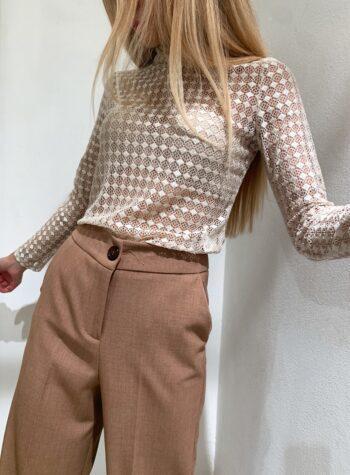 Shop Online Maglietta traforata panna So Allure
