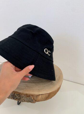 Shop Online Cappello bucket nero Gio Cellini