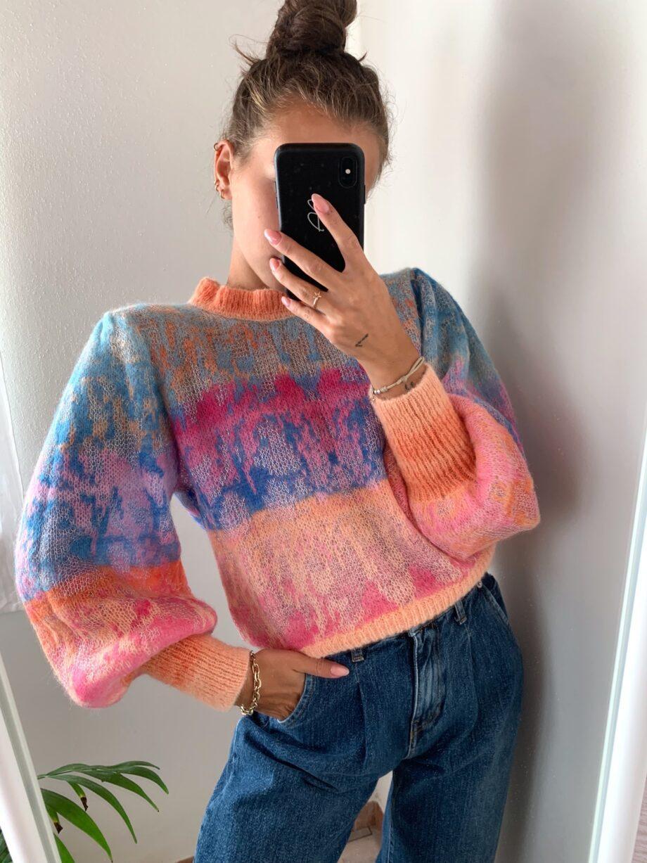 Shop Online Maglione multicolor maniche palloncino HaveOne