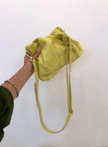 Shop Online Pochette puffy gialla con tracolla Bhag