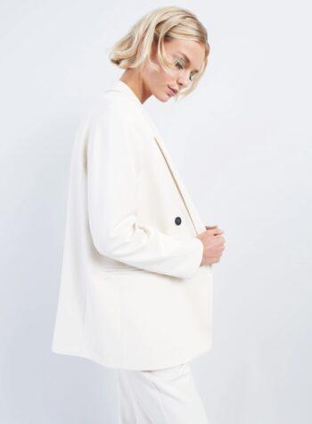Shop Online Blazer doppiopetto panna Vicolo